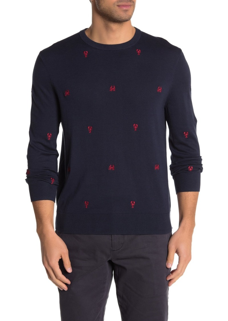 Brooks Brothers Critter Embroidered Crew Neck Sweater