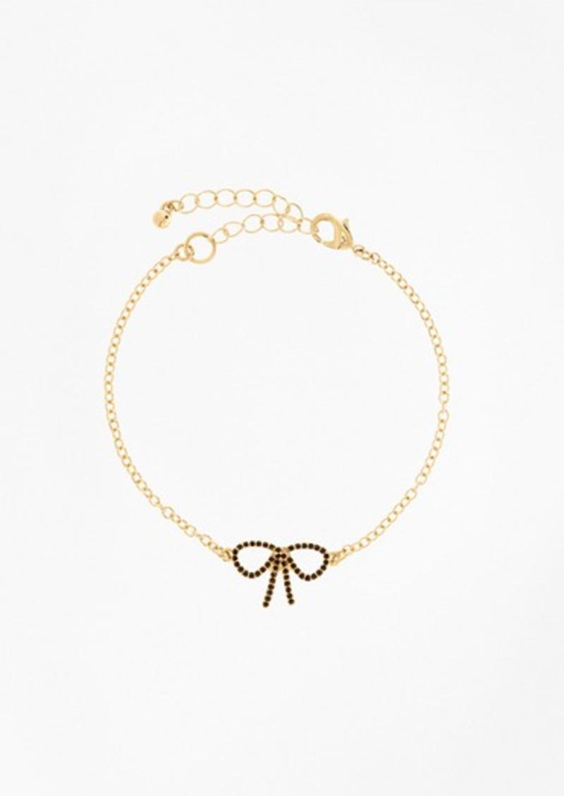 Brooks Brothers Crystal Pave Bow Bracelet