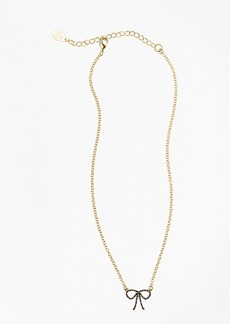 Brooks Brothers Crystal Pave Bow Necklace