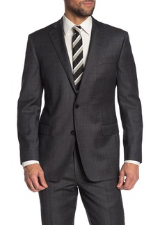Brooks Brothers Dark Grey Sharkskin Two Button Notch Lapel Explorer Collection Regent Fit Suit Separates Jacket