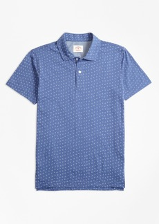 Brooks Brothers Ditsy-Print Cotton Jersey Polo Shirt