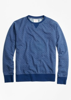 Brooks Brothers Dobby-Dot French Terry Sweatshirt