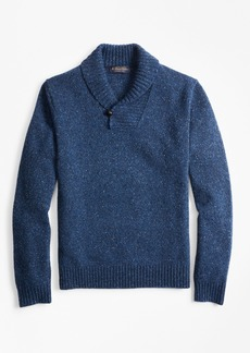 Brooks Brothers Donegal Shawl-Collar Sweater
