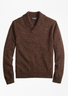 Brooks Brothers Donegal Shawl Collar Sweater