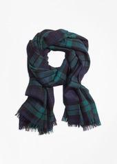 Brooks Brothers Double-Faced Black Watch Scarf