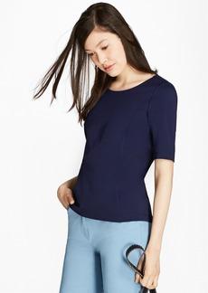 Brooks Brothers Elbow-Sleeve Ponte T-Shirt