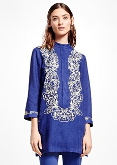 Brooks Brothers Embroidered Linen Tunic