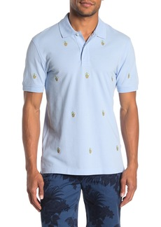 Brooks Brothers Embroidered Pina Colada Pique Slim Fit Polo