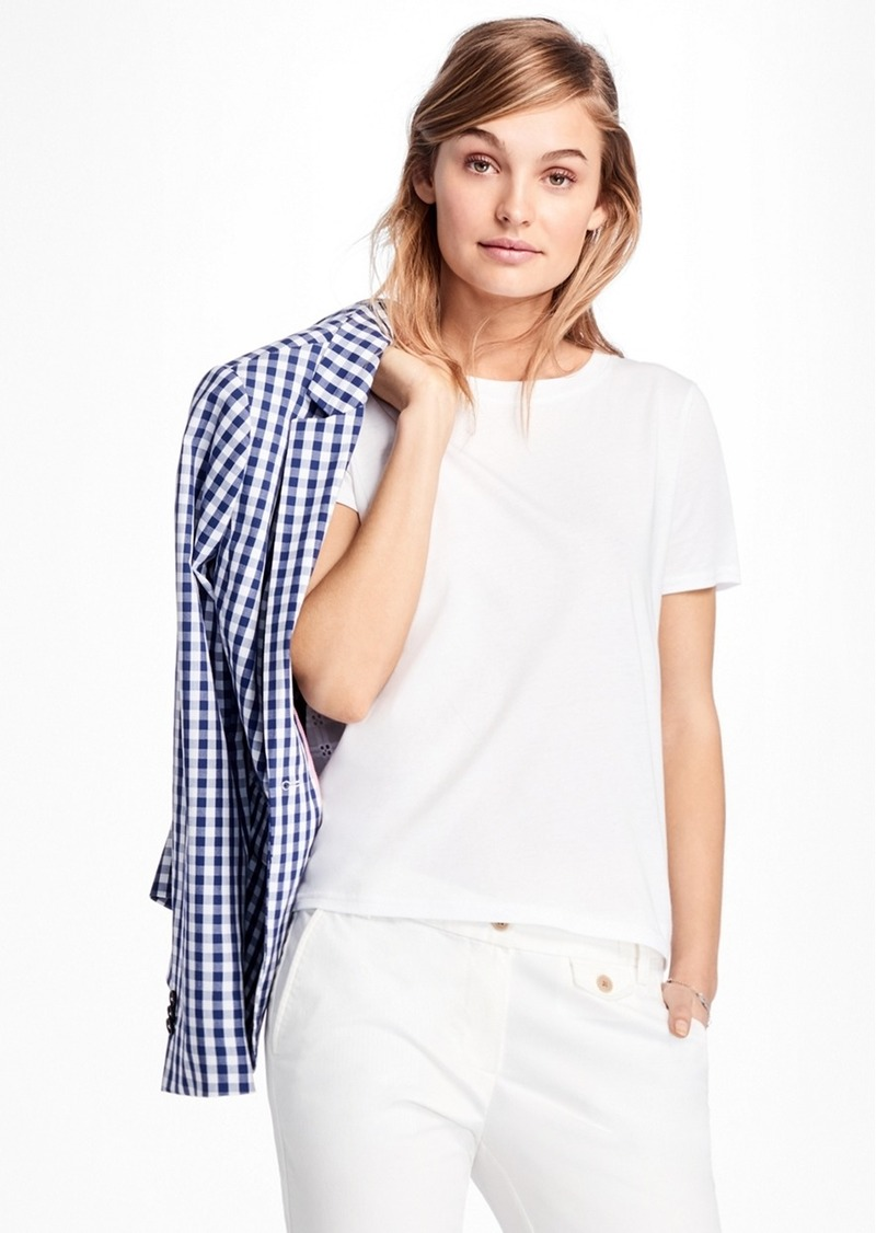 Brooks Brothers Eyelet-Back Jersey T-Shirt
