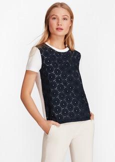 Brooks Brothers Eyelet-Panel T-Shirt
