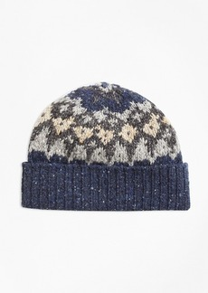 Brooks Brothers Fair Isle Wool-Blend Hat