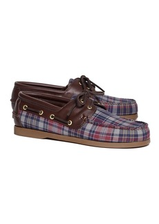 Brooks Brothers Fall Madras Boat Shoes