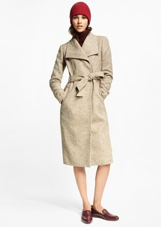 Brooks Brothers Flecked Herringbone Tweed Coat