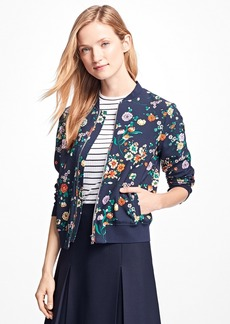 Brooks Brothers Floral Bomber Jacket