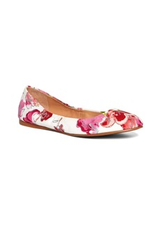 Brooks Brothers Floral Canvas Ballet Flats