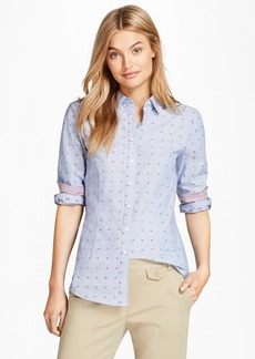 Brooks Brothers Floral Dobby Cotton Shirt