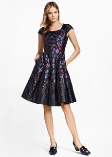 Brooks Brothers Floral Jacquard Dress