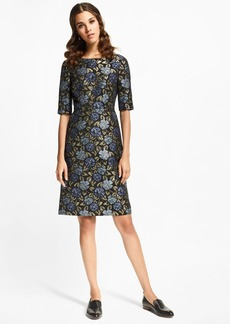 Brooks Brothers Floral Jacquard Sheath Dress