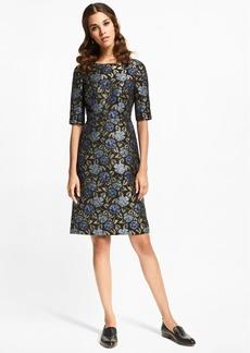 Brooks Brothers Floral Jacquard Sheath Dress