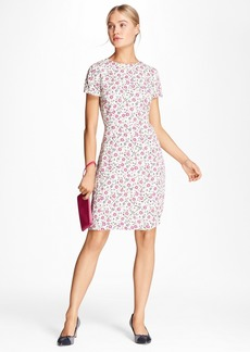 Brooks Brothers Floral-Print Crepe Dress