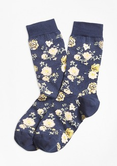 Brooks Brothers Floral Socks