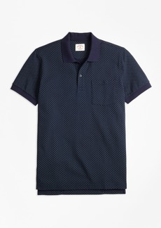 Brooks Brothers Foulard-Print Cotton Pique Polo Shirt