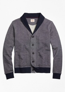 Brooks Brothers French Terry Shawl-Collar Cardigan