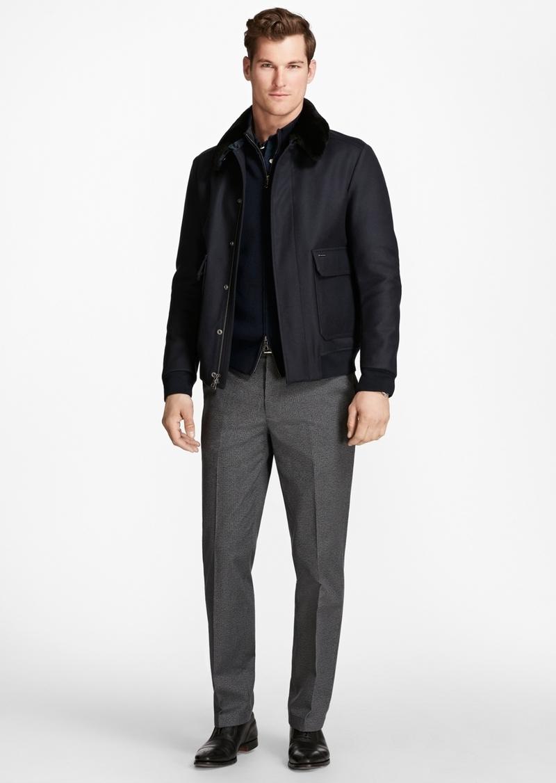 e97073f7e Fur Collar Wool Bomber