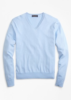 Brooks Brothers Garment-Dyed V-Neck Sweater