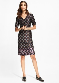 Brooks Brothers Geometric Jacquard Sheath Dress