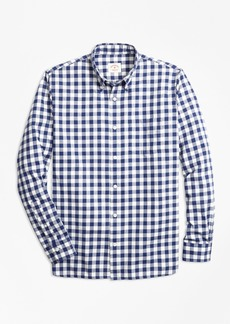 Brooks Brothers Gingham Brushed Cotton Flannel Sport Shirt