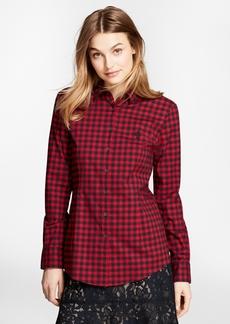 Brooks Brothers Gingham Brushed-Twill Shirt