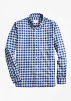 Brooks Brothers Gingham Brushed Twill Sport Shirt