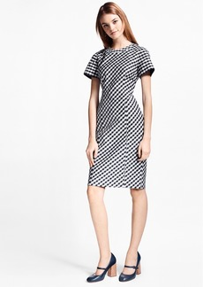 Brooks Brothers Gingham Double-Weave Sheath Dress