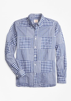 Brooks Brothers Gingham Patchwork Madras Sport Shirt