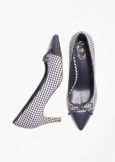 Brooks Brothers Gingham Point-Toe Pumps