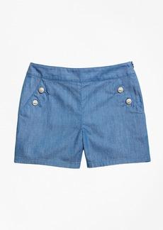 Brooks Brothers Girls Chambray Shorts