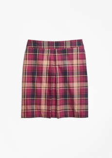 Brooks Brothers Girls Cotton and Wool Blend Plaid Skirt