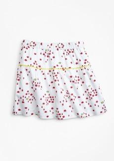 Brooks Brothers Girls Cotton Bug Print Skirt