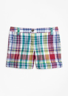 Brooks Brothers Girls Cotton Madras Shorts