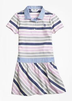 Brooks Brothers Girls Cotton Multistripe Dress