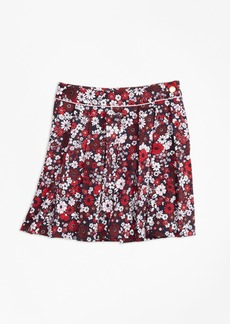 Brooks Brothers Girls Cotton Sateen Floral Skirt