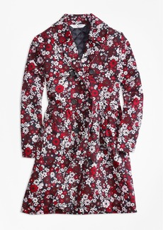 Brooks Brothers Girls Cotton Sateen Floral Trench