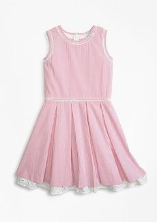 Brooks Brothers Girls Cotton Seersucker Dress