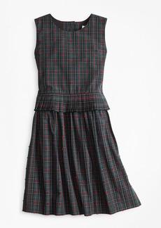 Brooks Brothers Girls Cotton Sleeveless Dot Dress
