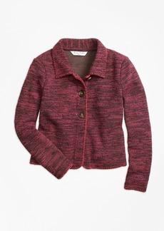Brooks Brothers Girls Cotton Stretch Boucle Jacket