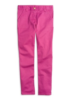 Brooks Brothers Girls Cotton Stretch Skinny Pants