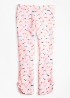 Brooks Brothers Girls Cotton Tossed Candy Print Pants