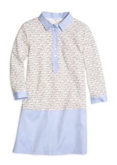 Brooks Brothers Girls Cotton Waffle Knit Dress