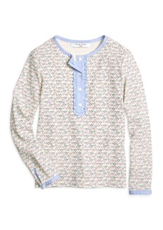 Brooks Brothers Girls Cotton Waffle Knit Tee